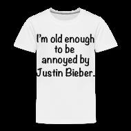 Baby & Toddler Shirts ~ Toddler Premium T-Shirt ~ Not a Bieber Fan
