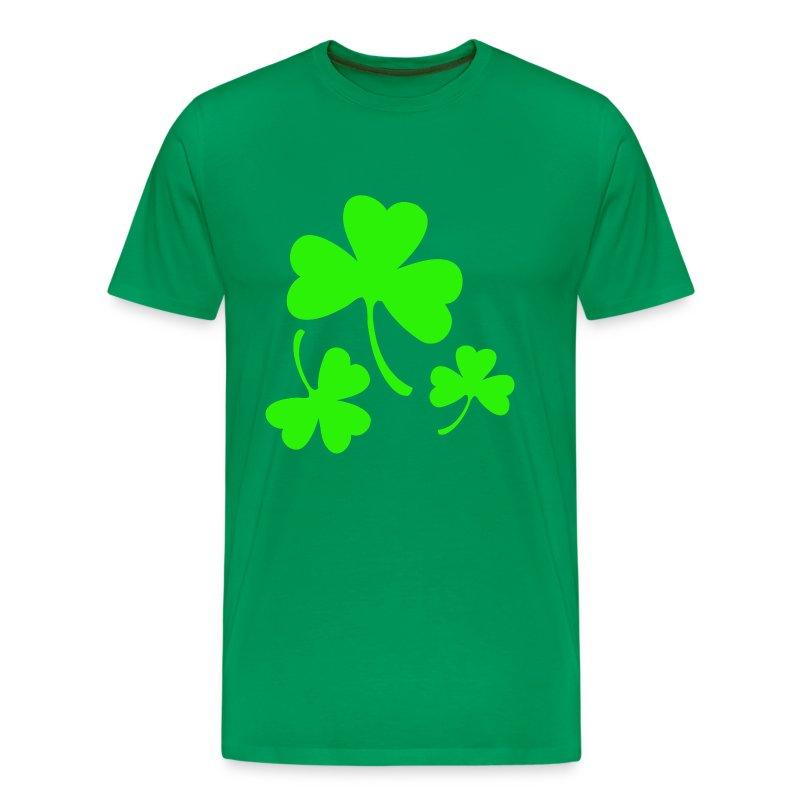 3 Neon Green Shamrocks T Shirt Spreadshirt