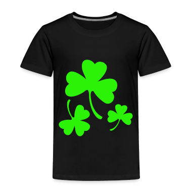 3 Neon Green Shamrocks Toddler Shirts