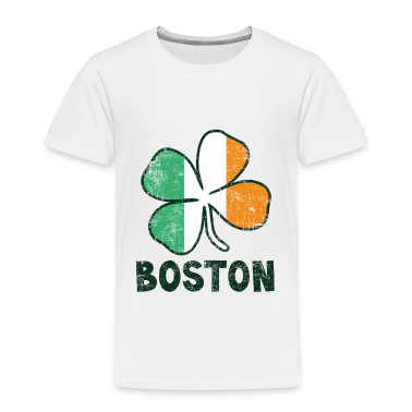 Boston w/Irish Flag Toddler Shirts
