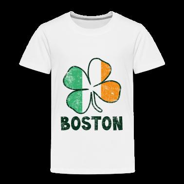 Boston w/Irish Flag Toddler Shirts
