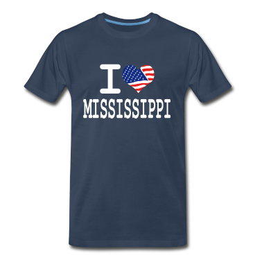 i love mississippi - white T-Shirts