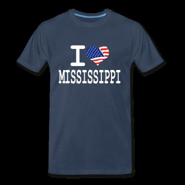 i love mississippi - white T-Shirts