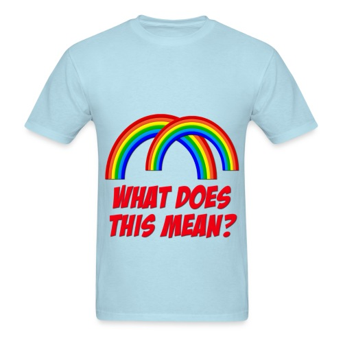 double rainbow - Men's T-Shirt