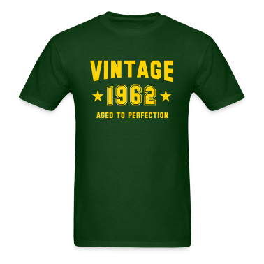 VINTAGE 1962 - Birthday T-Shirt YG
