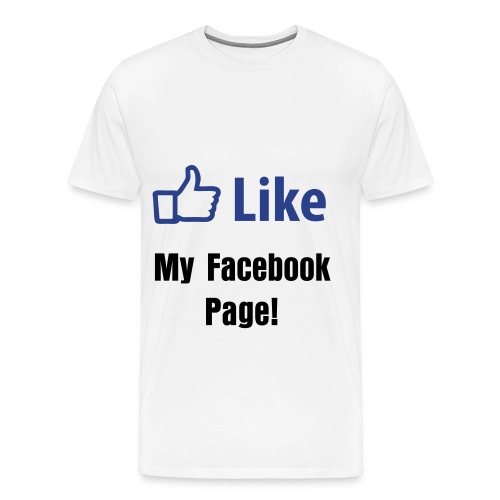 Like my Facebook page - Men's Premium T-Shirt