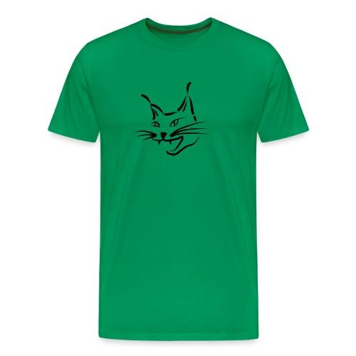 animal t-shirt lynx cougar lion wildcat bobcat cat wild hunter hunt hunting - Men's Premium T-Shirt