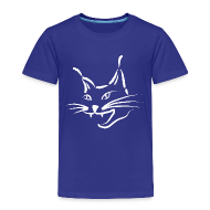 Baby & Toddler Shirts ~ Toddler Premium T-Shirt ~ animal t-shirt lynx cougar lion wildcat bobcat cat wild hunter hunt hunting