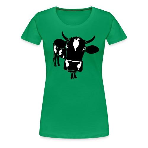 animal t-shirt cow bull ox milk farmer farm country cows dairy beef steak cook bbq - Women's Premium T-Shirt