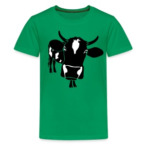 animal t-shirt cow bull ox milk farmer farm country cows dairy beef steak cook bbq - Kids' Premium T-Shirt