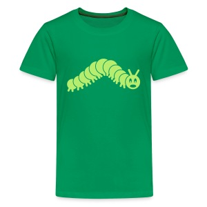 animal t-shirt caterpillar worm snake hungry butterfly magot maggot grub crawler inchworm looper - Kids' Premium T-Shirt