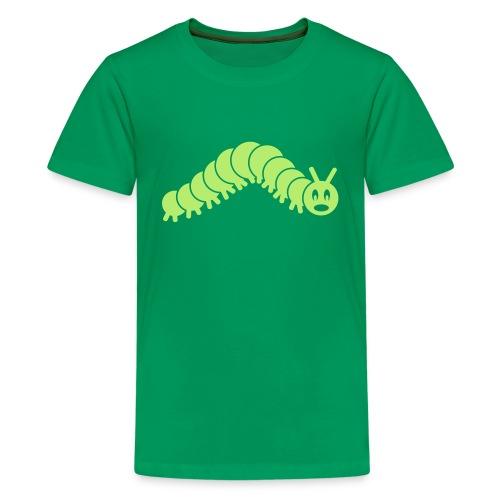 animal t-shirt caterpillar worm snake hungry butterfly magot maggot grub crawler inchworm looper - Kids' Premium T-Shirt