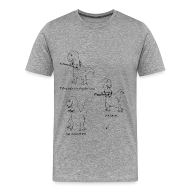 T-Shirts ~ Men's Premium T-Shirt ~ T-Rex Ukulele (3X &4X)