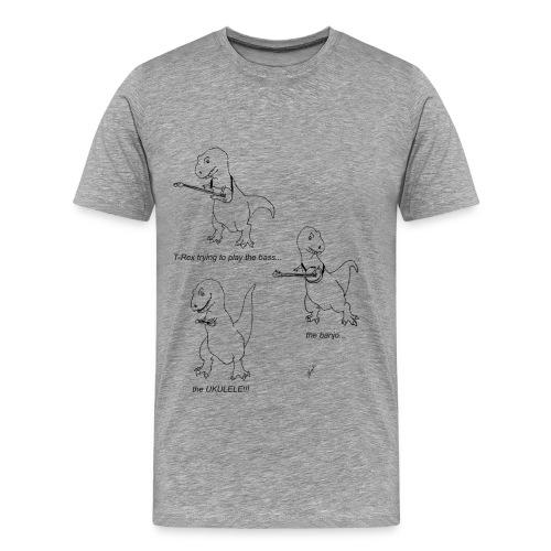 T-Rex Ukulele (3X &4X) - Men's Premium T-Shirt