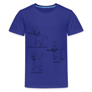 T-Rex Trying Ukulele (Kid's T-Shirt) - Kids' Premium T-Shirt