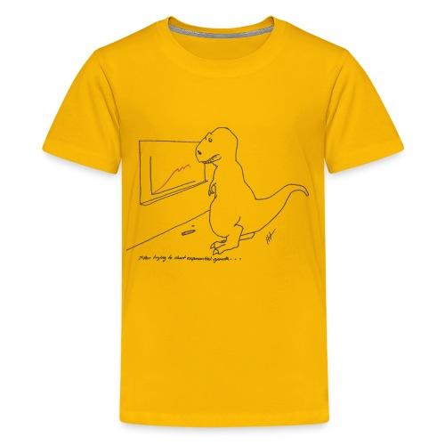 T-Rex Exponential Growth Chart (kid's) - Kids' Premium T-Shirt