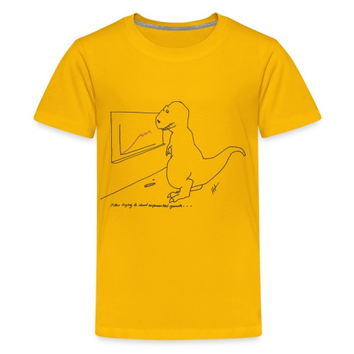 T-Rex Exponential Growth Chart (kid's) - Kids' Premium T-Shirt
