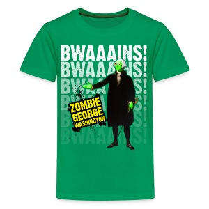 Kids' Premium T-Shirt - ZGW wants to eat your BWAAAINS!!! 