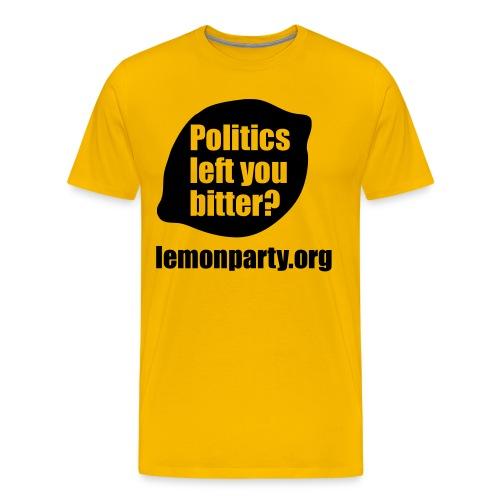 Politics left you bitter? lemon party shirt - Men's Premium T-Shirt