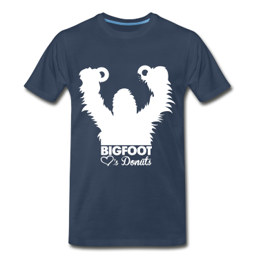 Bigfoot Loves Donuts (White) - Men's