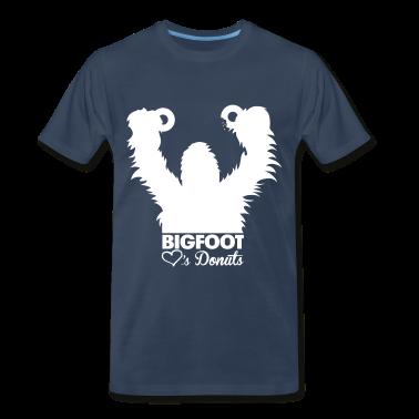 Bigfoot Loves Donuts (White) - Men's