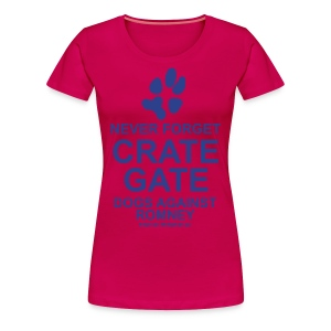 Official Dogs Against Romney Crate-Gate Women's Plus Size - Women's Premium T-Shirt