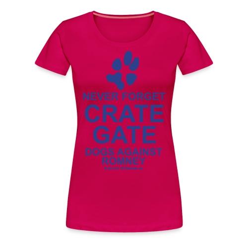 Official Dogs Against Romney Crate-Gate Women's Plus Size - Women's Premium T-Shirt