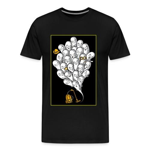 Ghosts with Vaccuum Cartoon shirt - Men's Premium T-Shirt