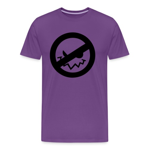 No Bad Ghost Logo T-Shirt - Men's Premium T-Shirt