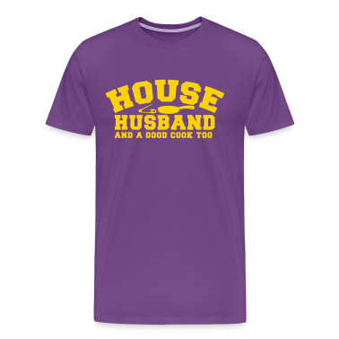 HOUSE HUSBAND and a good cook too- with a pan! and a safety pin  T-Shirts