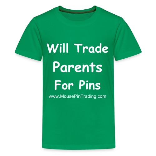 Will Trade Parents - (White Text) Kid's Shirt - Kids' Premium T-Shirt