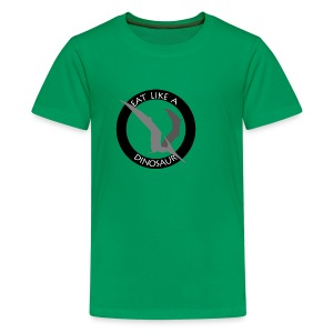 Pterodactyl ~ Eat Like a Dinosaur - light or white shirt - Kids' Premium T-Shirt