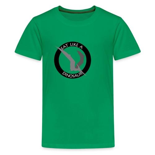 Pterodactyl ~ Eat Like a Dinosaur - light or white shirt - Kids' Premium T-Shirt