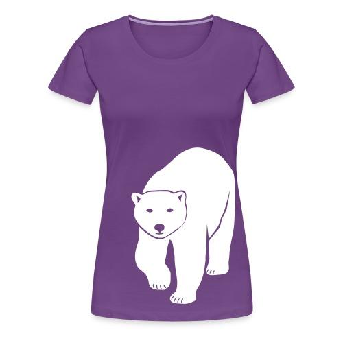 animal t-shirt polar bear ice black white penguin knut climate change stop global warming - Women's Premium T-Shirt