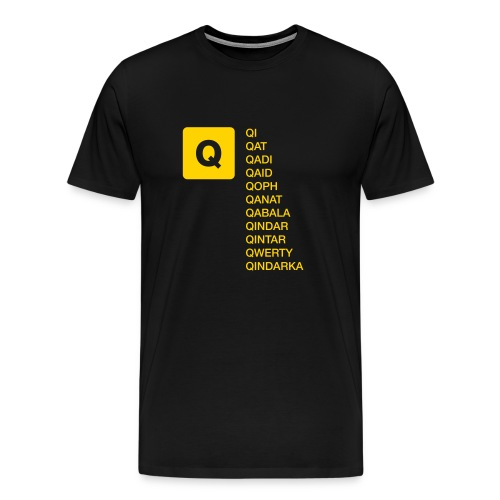 Q without U words Men's T - Men's Premium T-Shirt