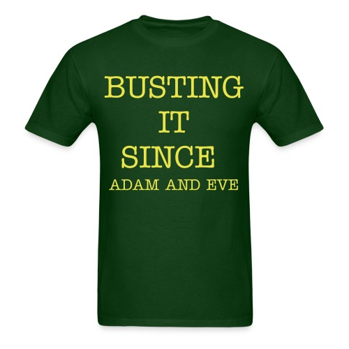 BUSTING IT Original T-Shirt (Green and Yellow) - Men's T-Shirt