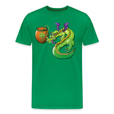 Drunk St Patrick's Day Dragon T-Shirts