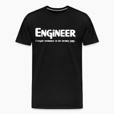White Engineer Zombie Fighter T-Shirts