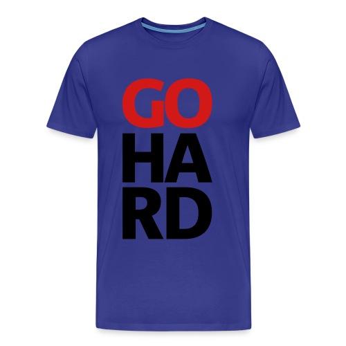 mens go hard shirt - Men's Premium T-Shirt