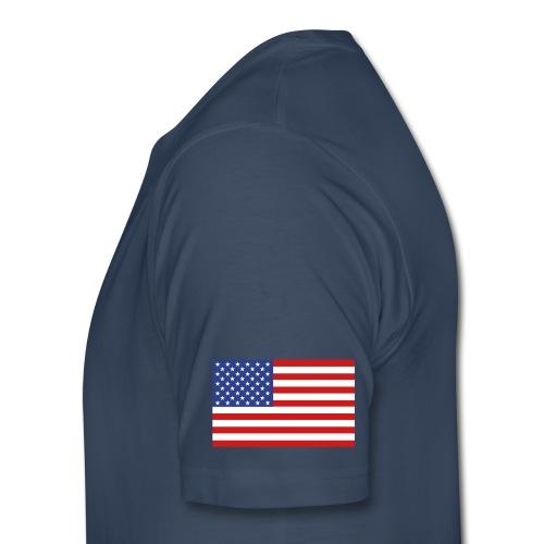 Thompson 96 T-shirt - Established 2002, name/number, Chicago flag, USA flag - Men's Premium T-Shirt