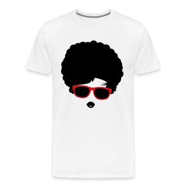 A girl with afro hairstyle and sunglasses T-Shirts