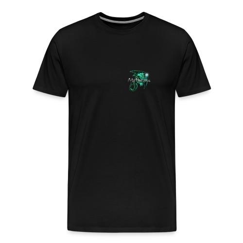 Mythruna World Back (blue text) - Men's - Men's Premium T-Shirt