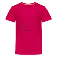 Kids' Shirts ~ Kids' Premium T-Shirt ~ T-Rex Picking Flowers (Kids)