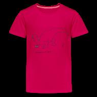 Kids' Shirts ~ Kids' Premium T-Shirt ~ T-Rex Picking Flowers (Kids)
