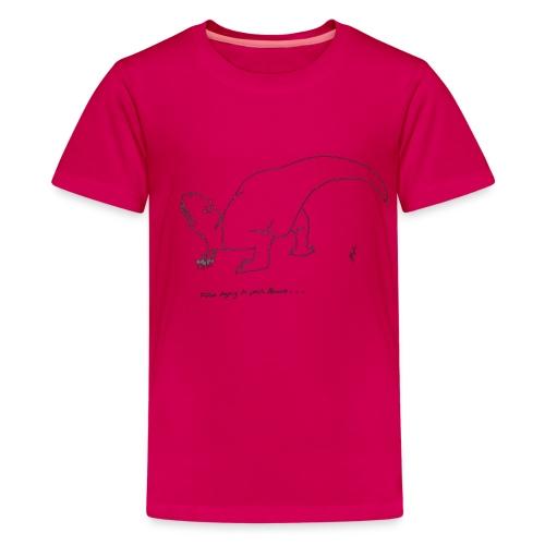 T-Rex Picking Flowers (Kids) - Kids' Premium T-Shirt