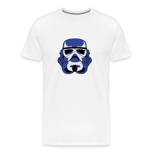 Blue Demon Trooper Mask - Men's Premium T-Shirt