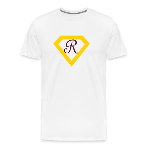 Super R--White - Men's Premium T-Shirt