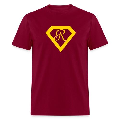 Super R--Burgundy - Men's T-Shirt