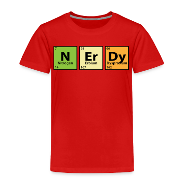 Periodic Table Nerdy Toddler Shirts