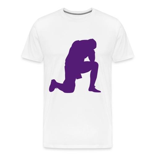 purple praying - Men's Premium T-Shirt